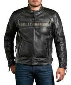 ハーレーダビッドソン Harley Davidson メンズ レザー ジャケットMen's Passing Link Tripe Vent Leather Jacket革ジャン 新作 ハーレー純正 正規品 アメリカ買付 USA直輸入 通販