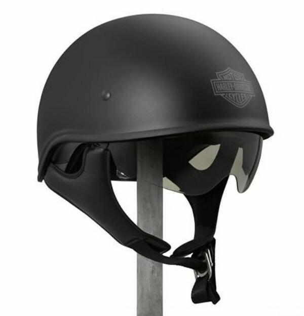 ハーレーダビッドソン Harley Davidsonハーフ ヘルメットMen's Curbside Sun Shield X06 Half Helmet マットブラック新作 ハーレー純正 正規品 アメリカ買付 USA直輸入 通販
