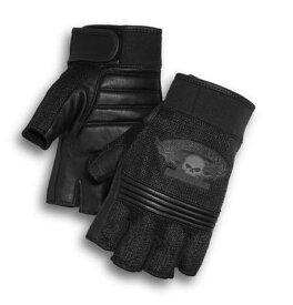 ハーレーダビッドソン Harley Davidsonグローブ● Harley-Davidson Men's Winged Skull Fingerless Glovesハーレー純正 正規品 アメリカ買付 USA直輸入 通販