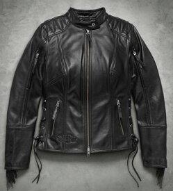 ハーレーダビッドソン Harley Davidsonレディース レザー ジャケットWomen's Boone Fringed Leather Jacket新作 ハーレー純正 正規品 アメリカ買付 USA直輸入 通販