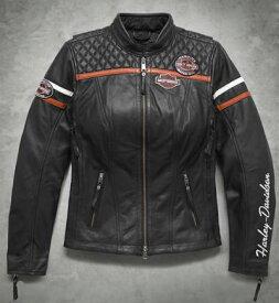 ハーレーダビッドソン Harley Davidsonレディース レザー ジャケットWomen's Miss Enthursiast H-D Triple Vent System Leather Jacket新作 ハーレー純正 正規品 アメリカ買付 USA直輸入 通販