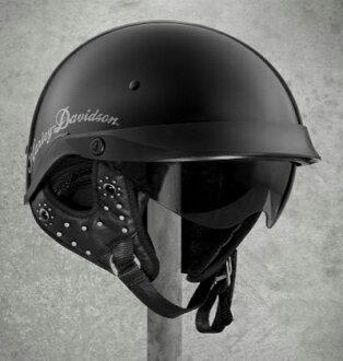 婦女的哈雷 · 大衛森哈雷半盔撥盤式撥號適合 B03 一半頭盔黑色哈雷-大衛森股票真正美國購買美國進口從郵購