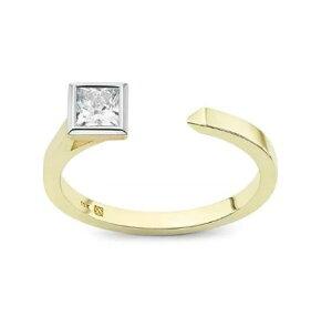 デビアス De Beers ジュエリー ライトボックス Lightbox リング3/8ct. Mini Princess Open Top Ring Ring カラーレス/ゴールドラブダイヤモンド(約0.375ct)デビアス CVDダイヤモンド 合成ダイヤモンド