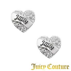 ジューシークチュール JUICY COUTURE ピアスPave Heart Stud Earring (Silver) ペイブ ハート スタッズ イヤリング (シルバー)★ 新作 正規品 日本未入荷 アメリカ買付 USA直輸入