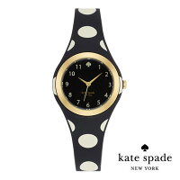 26031ea7d4286 ケイトスペード Kate Spade 腕時計 RUMSEY RUMSEY plastic strap watch 30mm (Black White  Polka