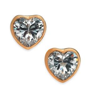 ケイトスペード ピアス WBRUH099 Kate Spade a★ ROMANTIC ROCKS STUDS (clear/rose gold)ハート ロマンティック ロック スタッズ ピアス (ローズゴールド) Crystal Heart Stud Earrings 正規品