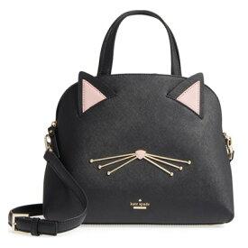 ケイトスペード 2WAYバッグ PXRU8519 Kate Spade CAT'S MEOW CAT LOTTIE (Black) キャッツ ミャオ キャット ロッティー (ブラック) 新作 正規品 アメリカ買付 レディース バッグ ハンドバッグ ショルダーバッグ サッチェル 猫 ネコ