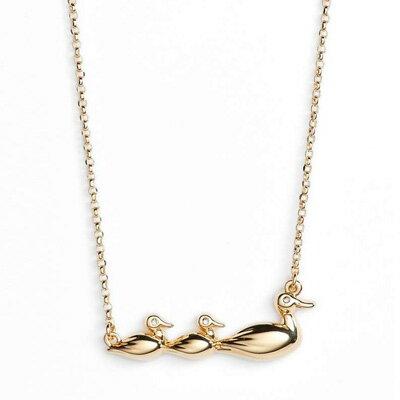 ケイトスペード ネックレス Kate Spade wbruf575mom knows best duck pendant (gold) ダック ペンダント ネックレス (ゴールド) 新作 正規品 アメリカ買付 レディース ジュエリー アヒル ギフト ペンダント