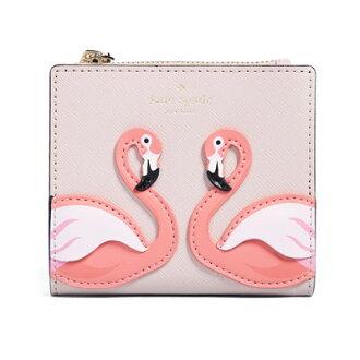 케이트 스페이드 반접기 지갑 Kate Spade pwru6387 by the pool flamingo adalyn (multi) 플라맹고 콤팩트 지갑(멀티) 신작 정규품 미국 구매 레이디스 지갑 워렛트 꺾어 접어 콤팩트 미니 지갑