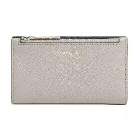 ケイトスペード 二つ折り財布 Kate Spade margaux slim bifold wallet (True Taupe) スリム ビルホールド 財布 (トープ) Small Slim Leather Bifold Wallet 新作 正規品 アメリカ買付 レディース コンパクト ミニ財布