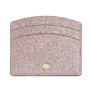 ケイトスペード カードケース Kate Spade Burgess Court Card Holder (Rose Gold) バージェス コート カードホルダー (ローズゴールド) 新作 正規品 アメリカ買付 レディース 財布 コンパクト グリッター ラ