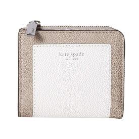 ケイトスペード 二つ折り財布 Kate Spade pwru7160margaux small bifold wallet (Optic White Multi) スモール ビルホールド レザー ウォレット 財布 (ホワイトマルチ) Margaux Pebble Leather Bifold Wallet 新作 正規品 アメリカ買付 レディース コンパクト ミニ財布