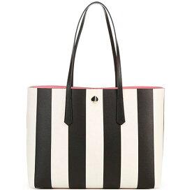 ケイトスペード トートバッグ Kate Spade large molly stripe faux leather tote (Black Multi) ラージ モリー ストライプ トート(ブラックマルチ)Molly Stripe Large Tote Bag