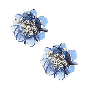 ケイトスペード ピアス Kate Spade Silver-Tone Pave Flower Stud Earrings (Blue Multi) パヴェ フラワー スタッド ピアス (ブルーマルチ) Blooming Bouquet Stud Earrings 新作 正規品 アメリカ買付 レディース ジュエリ
