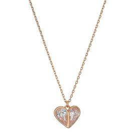 """ケイトスペード ネックレス Kate Spade Rock Solid Stone Heart Mini Pendant Necklace, 17"""" (Rose Gold) ハート ミニ ペンダント ネックレス (ローズゴールド) rock solid mini heart pendant necklace 新作 正規品 アメリカ買付 レディース ジュエリー アクセサリー"""