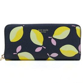 ケイトスペード 長財布 PWRU8035 Kate Spade margaux lemons slim continental wallet (BLUE MULTI) マルゴー レモン スリム コンチネンタル ウォレット(ブルーマルチ)