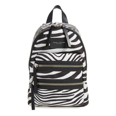 マークジェイコブス バックパックMini Biker Zebra Backpack(Off White Multi) ミニ バイカー ゼブラ キャンバス バックパック/リュック(マルチ) マークジェイコブス MARC JACOBS 新作 レディース バッグ リュックサック