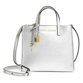 7e4858b22be0 マークジェイコブス 2WAYトートバッグ M0013268 MARC JACOBS The Grind Mini Grind (SILVER)  メタリック ミニ トートバッグ (シルバー) Mini The Grind Metallic ...