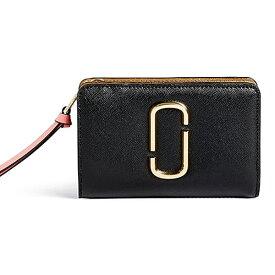 マークジェイコブス 二つ折り財布 M0013356 MARC JACOBS Snapshot Compact Wallet (BLACK/ROSE) スナップショット コンパクト 財布 (ブラック/ローズ) Snapshot Compact Leather Wallet ★ 新作 正規品 アメリカ買付 レディース ウォレット レザー