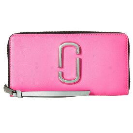 マークジェイコブス 長財布 MARC JACOBS Snapshot Flouro Standard Continental Wallet (Bright Pink Multi) スナップショット レザー ウォレット 財布 (ブライトピンクマルチ) 新作 正規品 アメリカ買付 レディース 財布 本革