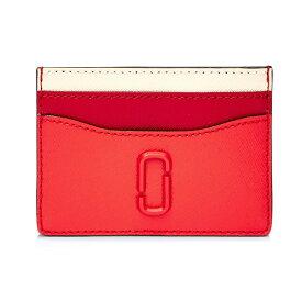 マークジェイコブス カードケース MARC JACOBS Snapshot Leather Card Case (Poppy Red Multi) スナップショット レザー カードケース (ポピーレッドマルチ) 新作 正規品 アメリカ買付 レディース 財布 スリム カードホルダー クレジットカードケース パスケース