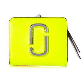 マークジェイコブス 二つ折り財布 M0014518 MARC JACOBS Snapshot Mini Compact Wallet (Bright Yellow Multi) スナップショット ミニ コンパクト 財布 (イエローマルチ) Snapshot Flouro Mini Compact Wallet ★ 新作 正規品 レディース ウォレット