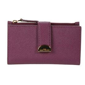 マークジェイコブス 二つ折り財布 MARC JACOBS M0016158 THE HALF MOON MEDIUM FLAT WALLET (Sweet Berry) ハーフムーン ミディアム ウォレット 財布 (スウィートベリー) Medium Flat Leather Bi-Fold Wallet