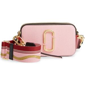 マークジェイコブス クロスボディバッグ M0012007 MARC JACOBS THE SNAPSHOT (New Baby Pink/Red) スナップショット クロスボディバッグ (ニューベイビーピンク/レッド) Snapshot Leather Crossbody Bag