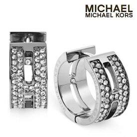 6d99ea20906d マイケルコース ピアスPave H Huggie Hoop Earrings(Silver)パヴェ H ハギーピアス (シルバー