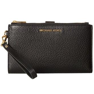 마이케르마이케르코스스마트폰워렛트 Michael Michael Kors 32 T7GAFW4L Adele Leather Smartphone Wristlet (BLACK) 레자스마호리스트렛트 지갑(블랙) 신작 정규품 레이디스 iPhone 케이스