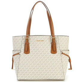 a8a6ef08fad1 マイケルコース トートバッグ Michael Michael Kors 30T8GV6T4BVoyager Logo Tote (Vanilla)  ロゴ トートバッグ