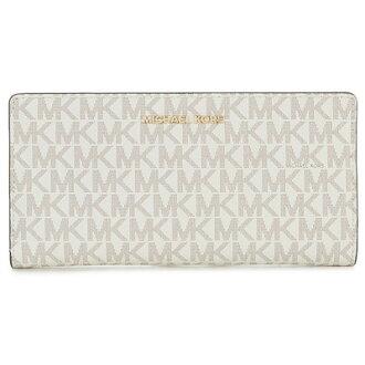 邁克爾套餐長錢包Michael Michael Kors 32S8GF6D7B Jet Set Logo Slim Wallet(Vanilla/Acorn)噴射裝置理性輪圈錢包錢包(香草)Signature Large Card Case新作品正規的物品女士持卡人卡片匣