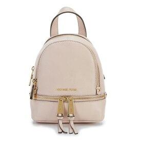 マイケルコース バックパック Michael Kors Rhea Zip Mini Messenger Backpack (Soft Pink) ミニ メッセンジャー バックパック/リュック (ソフトピンク) 新作 正規品 レディース バッグ リュックサック レザー ミニバッグ