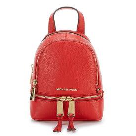 マイケルコース バックパック Michael Kors Rhea Zip Mini Messenger Backpack (Bright Red) ミニ メッセンジャー バックパック/リュック (ブライトレッド) 新作 正規品 レディース バッグ リュックサック レザー ミニバッグ