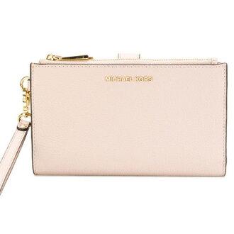 邁克爾邁克爾套餐智慧型手機錢包Michael Michael Kors 32T7GAFW4L Adele Leather Smartphone Wristlet(Soft Pink)皮革智慧型手機清單讓錢包(軟體粉紅)新作品正規的物品女士iPhone情况錢包