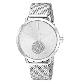a20d380c51a6 マイケルコース 腕時計 Michael Kors MK3843Women's Portia Stainless Steel Mesh Bracelet  Watch 37mm (Silver)
