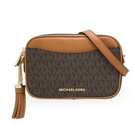 マイケルコース ショルダーバッグ 32T9GF5N5L Michael Michael Kors Logo Convertible Belt Bag (Brown/Acorn) スモール カメラ ベルトバッグ クロスボディ (ブラウン) 新作 正規品 アメリカ買付 レディース バッグ ボディバッグ ウエストバッグ ショルダーバッグ