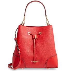 マイケルコース 2WAYバッグ 30F9GZ5L6L Michael Michael Kors Mercer Gallery Medium Pebbled Leather Shoulder Bag (Bright Red) MERCER GALLERY ミディアム コンバーチブル バケットショルダー (レッド) 新作 正規品 アメリカ買付 レディース バッグ