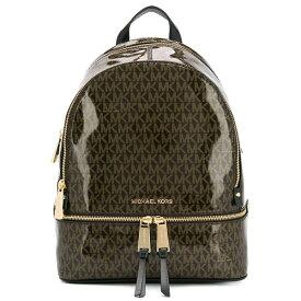 マイケルコース バックパック Michael Michael Kors 30H8GEZB2VRhea Medium Glossy Signature Backpack (Brown) リア シグニチャー グロッシー バックパック (ブラウン) Signature Glossy Rhea Zip Backpack 新作 正規品 レディース バッグ リュック リュックサック