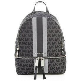 マイケルコース バックパック Michael Kors Signature Stripe Rhea Backpack (Black Multi) ストライプ リア バックパック (ブラックマルチ) 新作 正規品 アメリカ買付 レディース バッグ リュック リュックサック