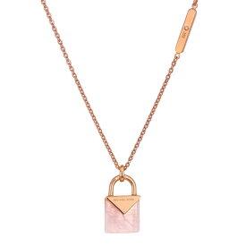 マイケルコース ネックレス Michael Kors MKC1039AB14K Rose Gold-Plated Sterling Silver Lock Necklace (Rose Gold/Rose Quartz) パドロック ネックレス (ローズゴールド/ローズクォーツ) 新作 正規品 レディース ジュエリー ペンダント ギフト プレゼント