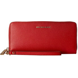 マイケルコース 長財布 32S5GTVE9L Michael Michael Kors Leather Continental Wristlet (Bright Red) トラベル コンチネンタル ウォレット 財布 (ブライトレッド) 新作 正規品 レディース