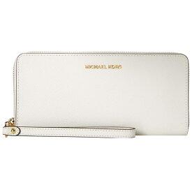 マイケルコース 長財布 32S5GTVE9L Michael Michael Kors Leather Continental Wristlet (Optic White) トラベル コンチネンタル ウォレット 財布 (オプティックホワイト) 新作 正規品 レディース