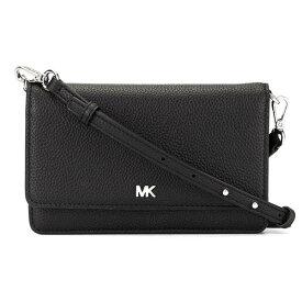 マイケルコース 財布/バッグ 32T8SF5C1L Michael Michael Kors Pebbled Leather Convertible Crossbody Bag (Black) フォーン クロスボディ 財布 (ブラック/シルバー) Pebble Leather Phone Crossbody Wallet 新作 正規品 レディース 長財布 ポシェット ミニバッグ