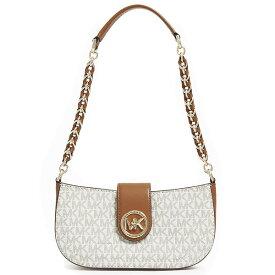 マイケルコース ショルダーバッグ Michael Michael Kors 32S0GNMU0BCarmen Extra-Small Logo Shoulder Bag (Vanilla/Acorn) ロゴ ショルダーバッグ (バニラ) Carmen Leather Shoulder Bag