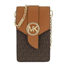 マイケルコース バッグ/iPhoneケース 32S0G00C5B Michael Michael Kors Small Logo and Leather Smartphone Crossbody Bag (Brown/Acorn) スモール フォン クロスボディ - MKロゴ (ブラウン/エイコーン)