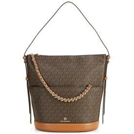 マイケルコース ショルダーバッグ Michael Michael Kors 30F0GEEL3B Reese Large Logo Shoulder Bag (Brown/Acorn) ラージ ロゴ ショルダーバッグ (ブラウン) Reese Large Signature Shoulder Bag