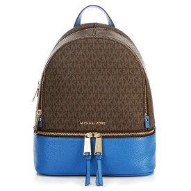 マイケルコース バックパック 30H8GEZB2B Michael Michael Kors Rhea Medium Logo and Pebbled Leather Backpack (Vintage Blue) RHEA ZIP ミディアム ロゴ&レザー バックパック (ビンテージブルー) 新作 正規品 アメリカ買付 レディース バッグ リュック リュックサック