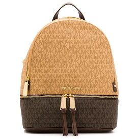 マイケルコース バックパック Michael Michael Kors 30H9GEZB2BRhea Medium Two-Tone Logo and Leather Backpack (Brown/Mocha) ミディアム ロゴ&レザー バックパック (ブラウンマルチ) 新作 正規品 アメリカ買付 レディース バッグ リュック リュックサック
