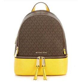 マイケルコース バックパック 30H8GEZB2B Michael Michael Kors Rhea Medium Logo and Pebbled Leather Backpack (SUNFLOWER) RHEA ZIP ミディアム ロゴ&レザー バックパック (サンフラワー) 新作 正規品 アメリカ買付 レディース バッグ リュック リュックサック